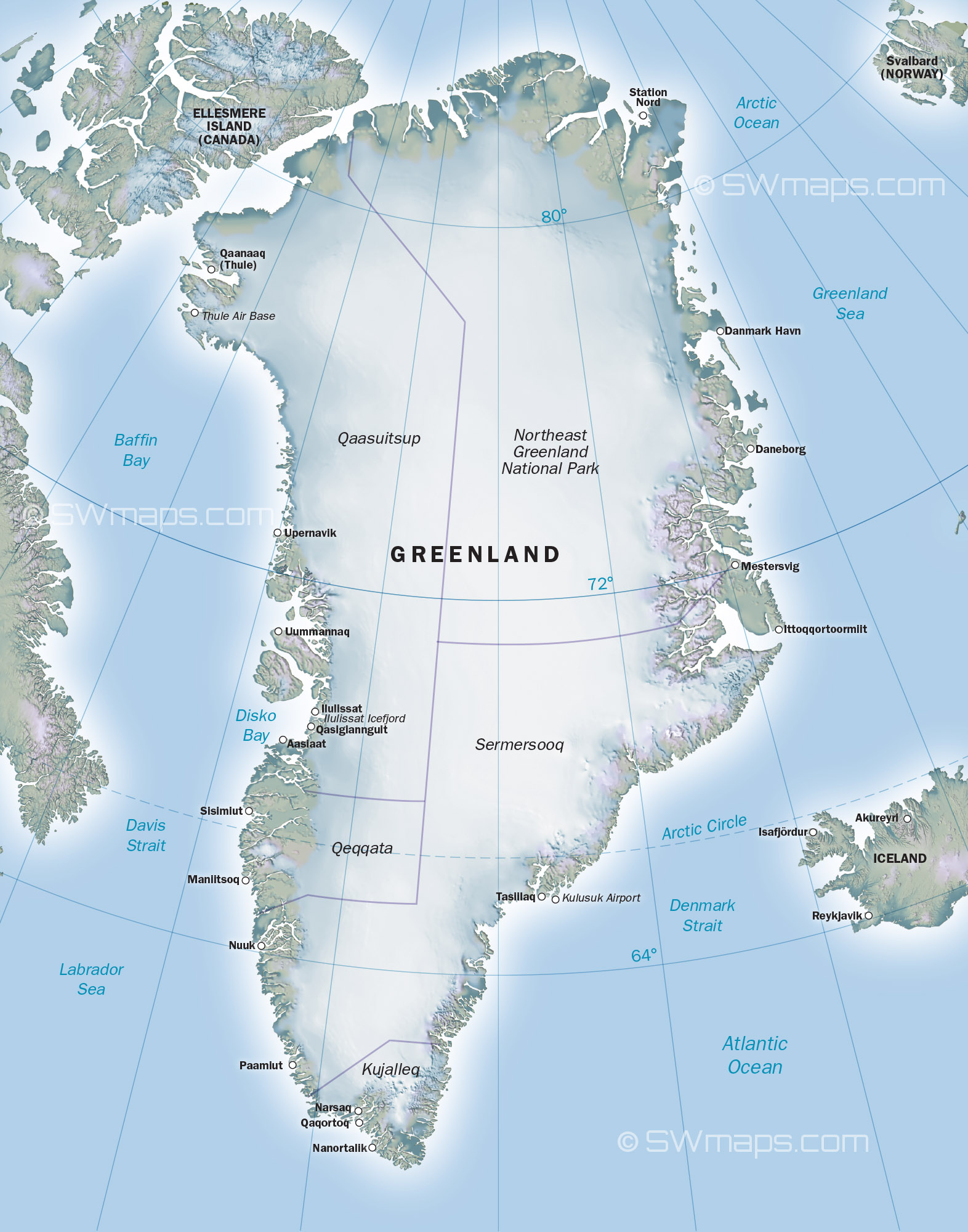 Iceland And Greenland World Map.Maps Of Greenland And Iceland Picture Gallery For Website With Maps