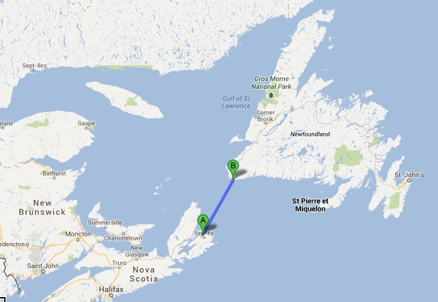 Channel-port aux Basques to North Sydney map (624x431)